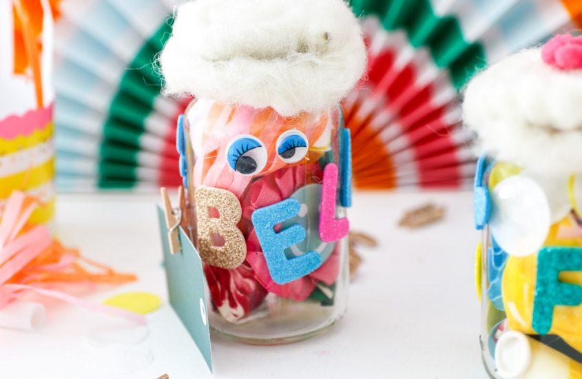 DIY&Upcycling: Kleine Geschenkgläser für den Kindergeburtstag. #PimpMyHolle [Werbung]